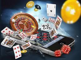 Chips, Bitcoins, playing cards, mobile, casino, roulette